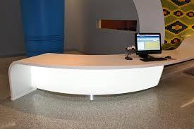 Led Reception Desk Backlit Curved 3form Reception Desks Led Backlighting Gpi Design