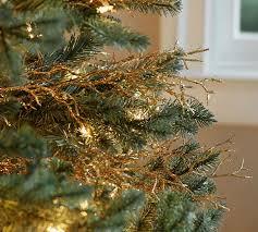 christmas picks gold coral tree pottery barn