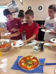 boys in the kitchen cooking up israel education at camp icenter
