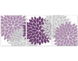 Purple And Grey Bathroom Purple Bathroom Art Etsy