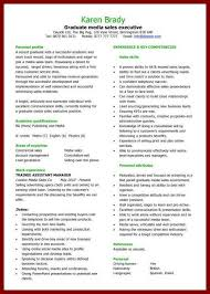 Resume For Graduate Student 10 Cv Examples Graduate Student Sendletters Info