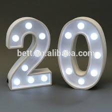 marquee numbers with lights nine inch single led numbers marquee letters light marquee sign