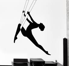 e206 gymnast wall stickers diy vinyl decal dance sport classic