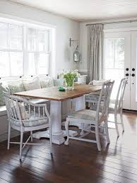 dining room decor ideas molded wood chairs lovely white striped
