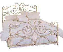 bedroom gold color wrought iron beds frame and white simple color
