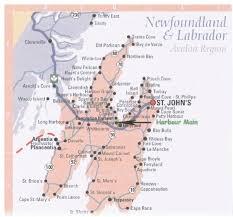 Newfoundland Map Flynn U0027s Hill History Of Newfoundland