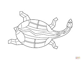 aboriginal painting turtle coloring free printable