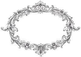 vintage clip art fancy oval frame vintage clip art oval frame