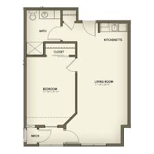 1 Bedroom Floor Plans by Senior Independent Living In Muskegon Retirement Living