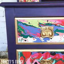 Colorful Furniture by Furniture Pour Painting How To Abstract Art On Furniture