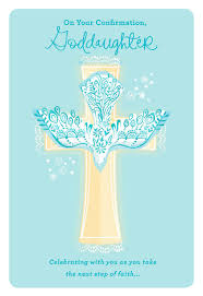 Confirmation Invitation Cards Dove And Cross Confirmation Card For Goddaughter Greeting Cards