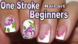 simple one stroke nail art painting for beginners and short nails