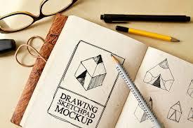 free drawing sketch pad mockup on behance