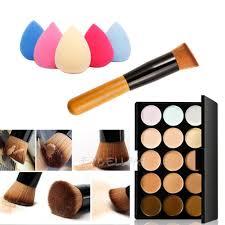 15 colors contour face cream makeup concealer palette sponge