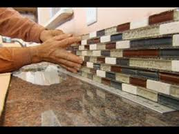 Installing Backsplash Kitchen by Installing Glass Mosaic Tile Backsplash Home Design Ideas