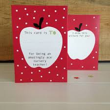 thank you cards for teachers concertina nursery or pre school thank you card by