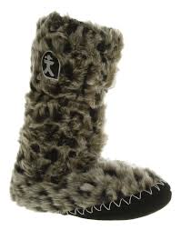 womens bedroom athletics sienna tall slipper boot arctic leopard image is loading womens bedroom athletics sienna tall slipper boot arctic