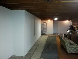 painting unfinished basement walls basements ideas