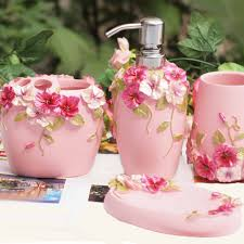 Bathroom Accessories Shabby Chic by Chic Pink Bathroom Set