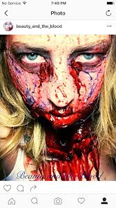 Halloween Walking Dead Makeup by Special Effects Makeup Sfx Zombie Ripped Throat Bloody Gory