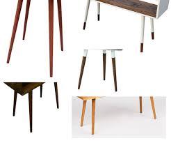 table leg mounting hardware mid century inspired table legs set of 4 with mounting hardware