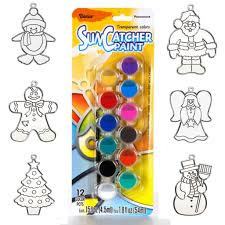 suncatchers kit paint set with 6 ornaments