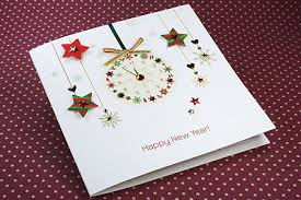cards for new year new year card new year clock