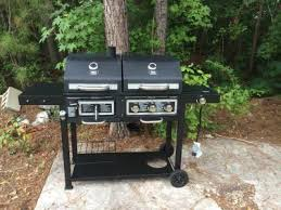 Backyard Grill Thermometer by Backyard Grill Dual Gas Charcoal Grill Walmart Com
