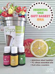 chagne gift basket essential oils gift basket idea diy show diy decorating