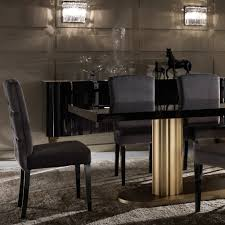 ebony table and chairs italian ebony veneer large rectangular dining table and chairs set