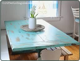 Beachy Kitchen Table by A Thrifter In Disguise Low Cost Ways To Refresh Your Kitchen