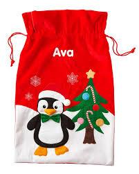 personalised penguin sack sacks