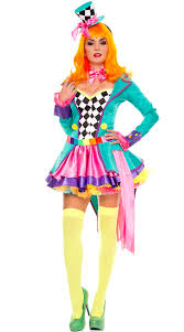 Mad Hatter Halloween Costumes Girls Deluxe Size Hatter Hottie Costume Sized Tea Party