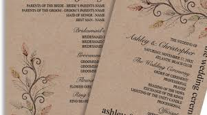 Rustic Wedding Program Template 14 Cool Rustic Wedding Programs Diy Wedding U2022 24160