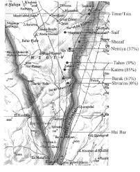 negev desert map map of the negev desert and arava valley in southern