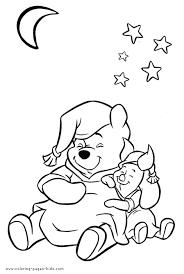 winnie piglet winnie pooh color disney coloring