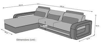 dimension d un canapé canapé d angle design en cuir italien pas cher marseille