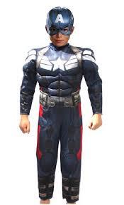Halloween Costumes Soldier Cosplay Captain America Kids Winter Soldier Superhero Muscles