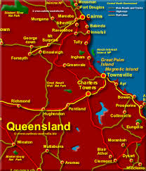 map of queensland central queensland map qld
