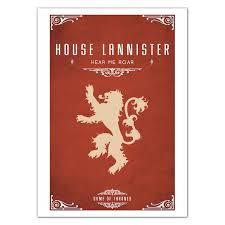 house lannister buy house lannister game of thrones poster posterduniya com
