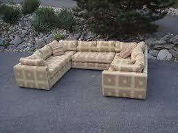 big mcm pit sofa sectional couch danker milo baughman selig danish