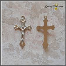 diy rosary 100pcs lot wholesale catholic jesus crucifix metal cross pendant for
