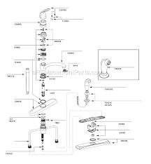 moen kitchen faucet parts moen 7445 parts list and diagram ereplacementparts plus