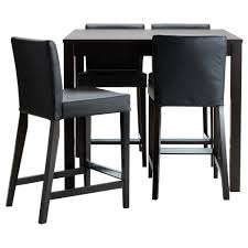High Top Kitchen Table And Chairs Bjursta Henriksdal Bar Table And 4 Bar Stools Ikea
