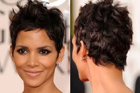 back view of halle berry hair pixie bob side back view medium hair styles ideas 40773
