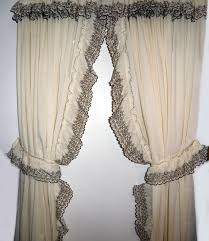 country style look with ruffled curtains drapery room ideas