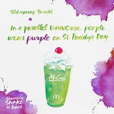 mcdonald u0027s print advert by moroch shamrock shake universe ads