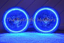 jeep wrangler blue headlights 1997 2017 jeep wrangler colormorph colornova rgb halo headlight kit