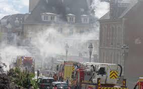 feu de cuisine feu de cuisine et circulation perturbée en centre ville de