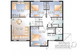 plan de maison a etage 5 chambres plan de maison unifamiliale monteillet 2 w3875 v1 dessins drummond